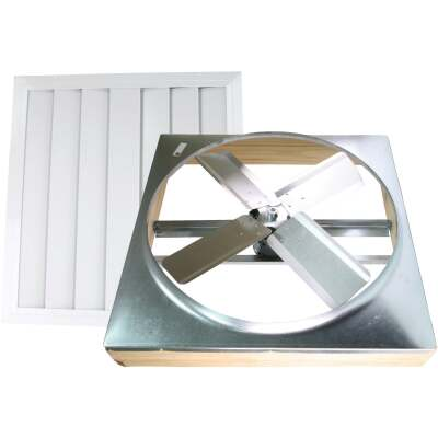 """Ventamatic Cool Attic 24"""" Direct Drive Up to 1800 sq ft Whole House Fan"""