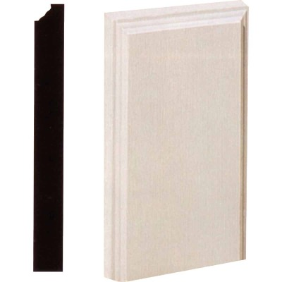 House of Fara 1-1/8 In. W. x 4-1/2 In. H. x 8 In. L. White MDF Plinth Block
