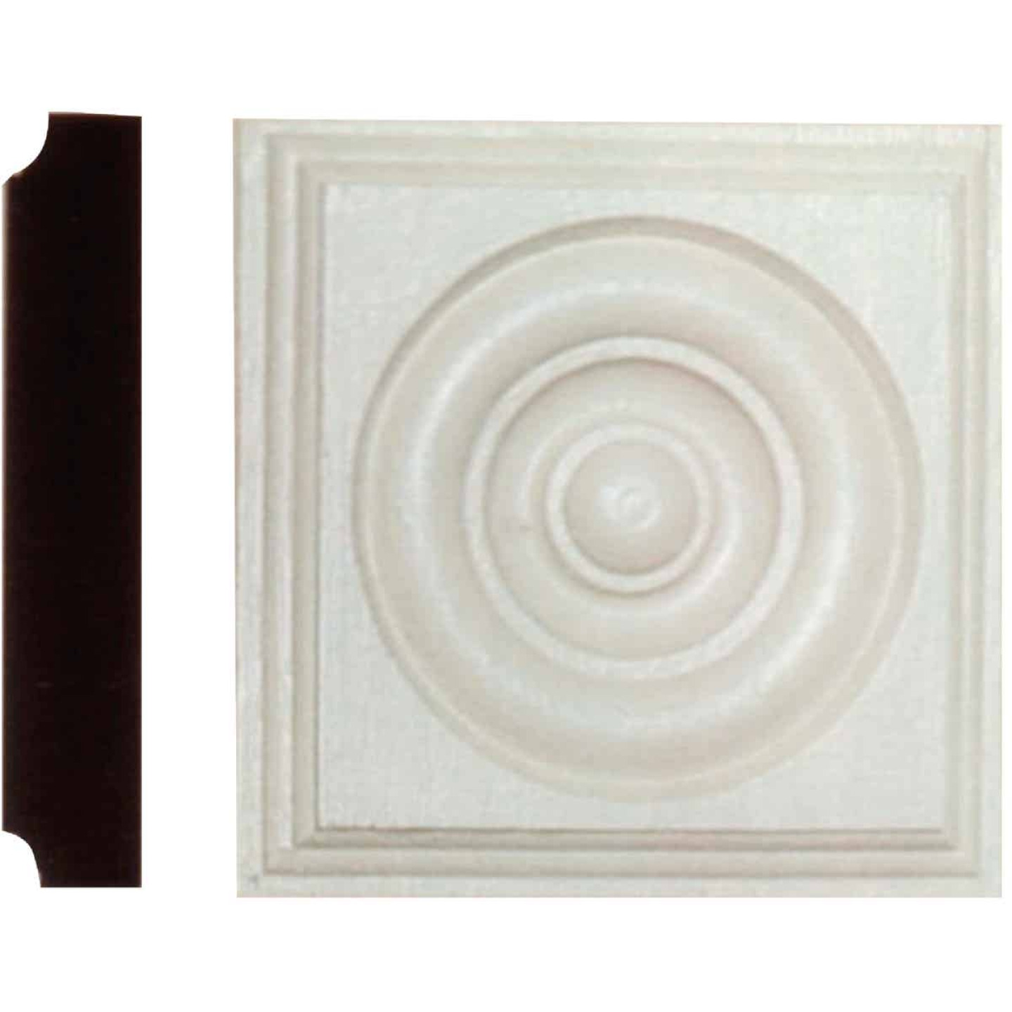 House of Fara 1-1/8 In. x 5-1/2 In. Primed MDF Rosette Image 1