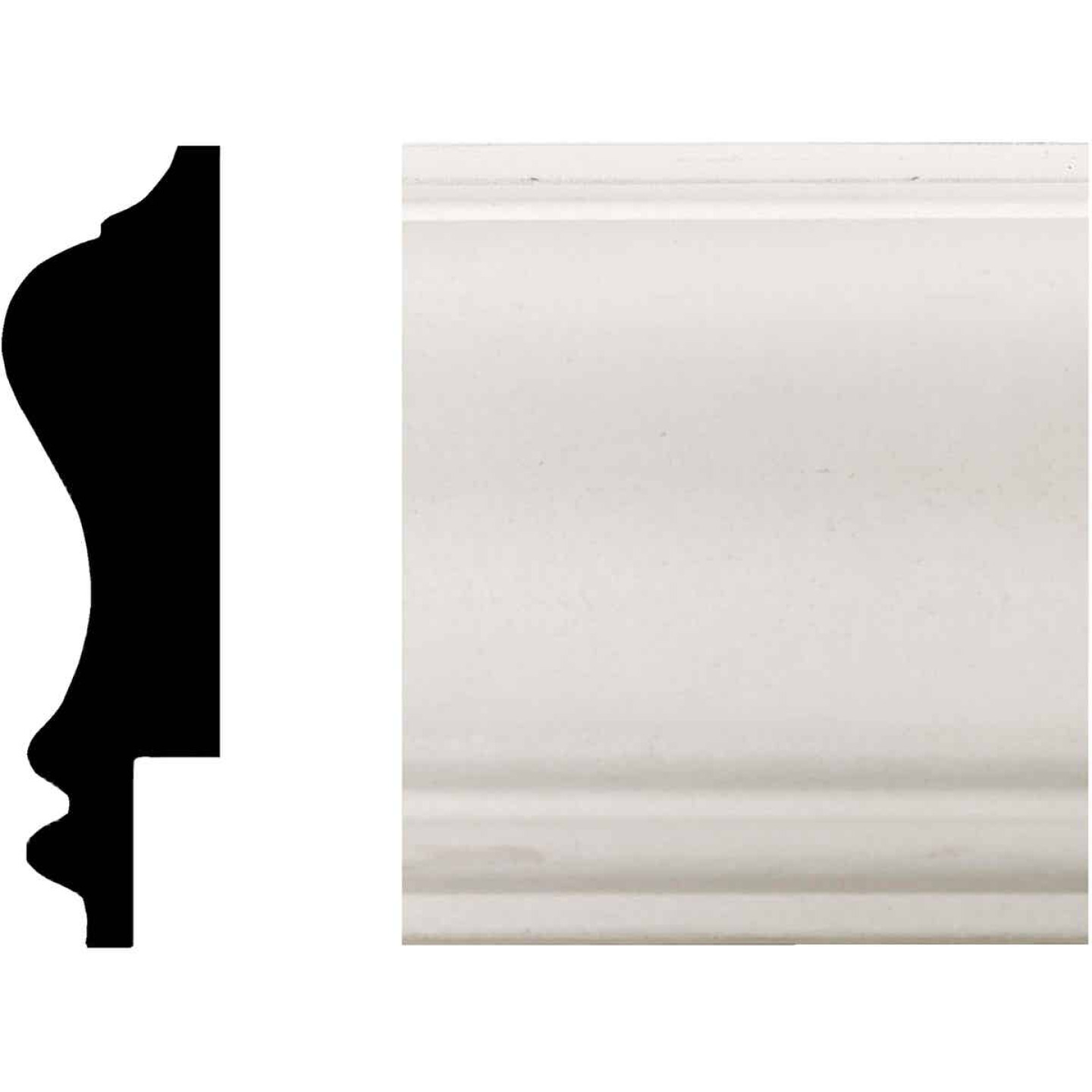 House of Fara 3/4 In. W. x 2-3/4 In. H. x 8 Ft. L. White MDF Wainscot Chair Rail Molding Image 1