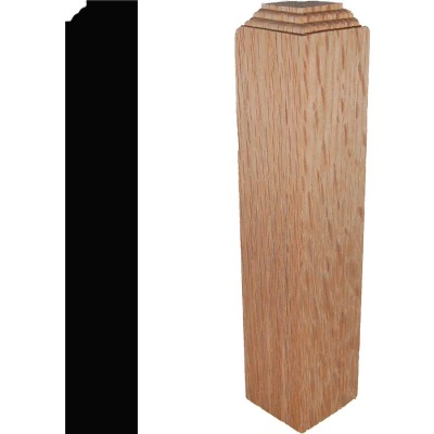 House of Fara 1-1/4 In. x 1-1/4 In. x 6 In. Solid Red Oak Outside Corner Block