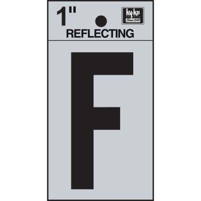 Hy-Ko Vinyl 1 In. Reflective Adhesive Letter, F