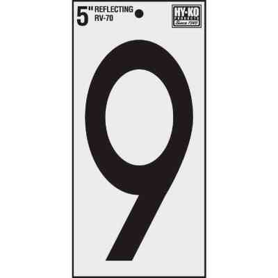 Hy-Ko Vinyl 5 In. Reflective Adhesive Number Nine