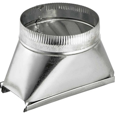 Lambro 6 In. Galvanized Standard Round Transition Boot