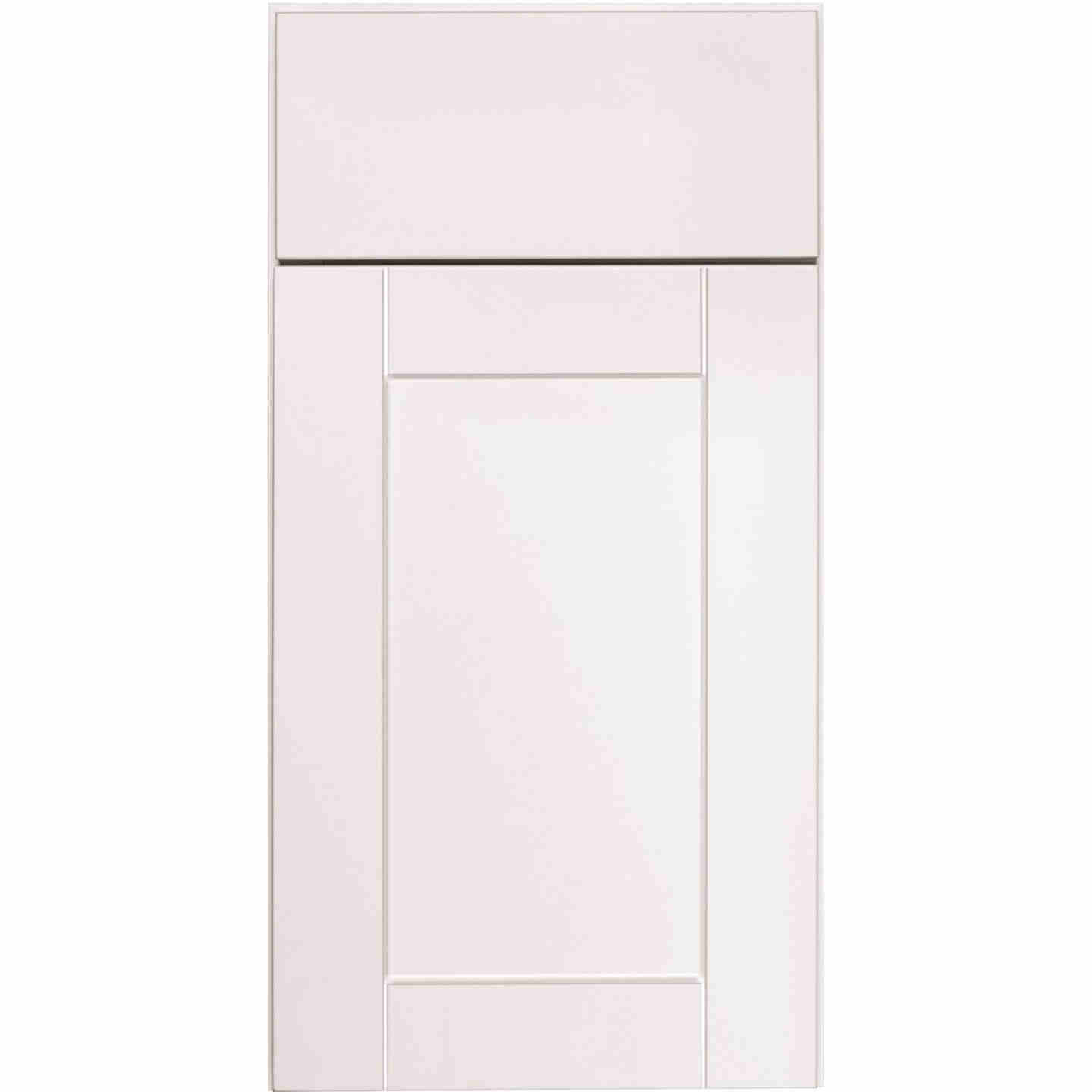 Continental Cabinets Andover Shaker 30 In. W x 15 In. H x 12 In. D White Thermofoil Bridge Wall Kitchen Cabinet Image 3