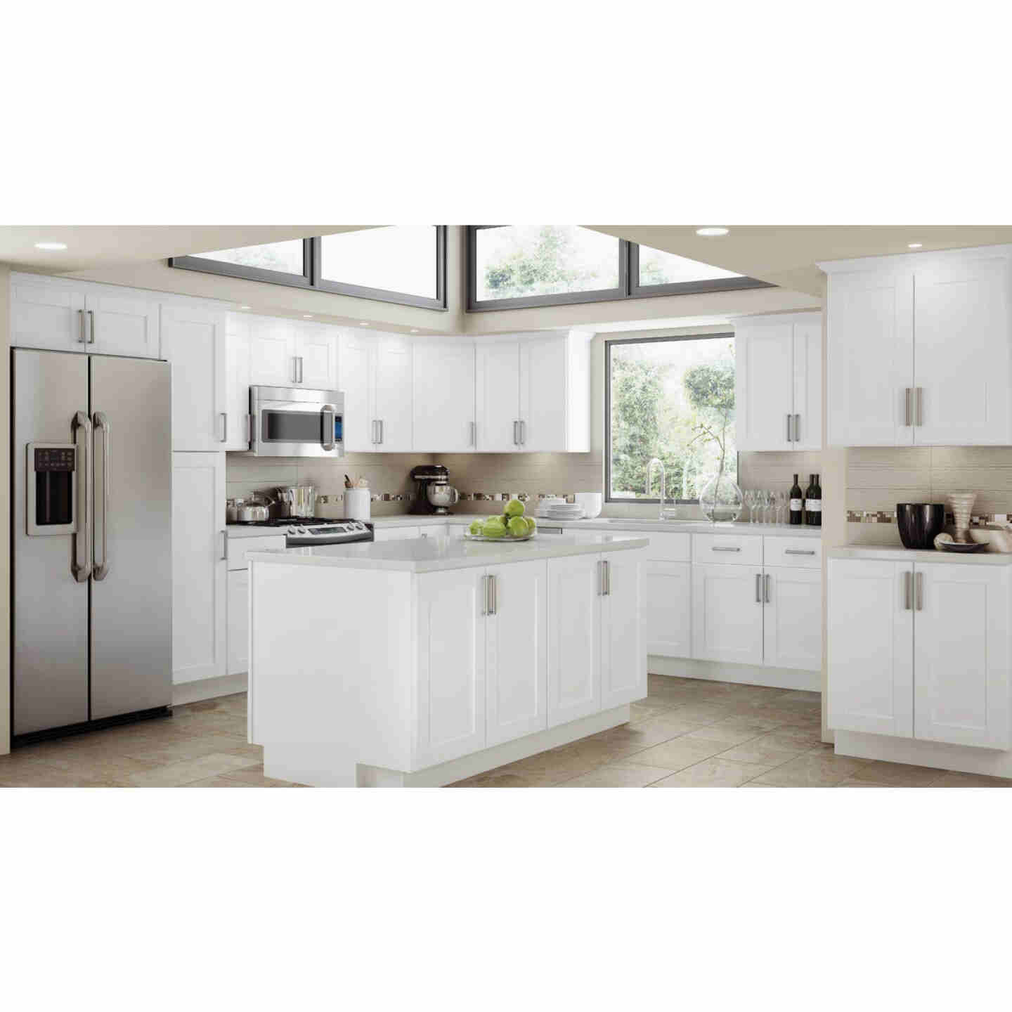 Continental Cabinets Andover Shaker 30 In. W x 15 In. H x 12 In. D White Thermofoil Bridge Wall Kitchen Cabinet Image 2