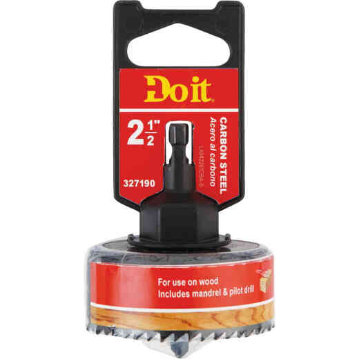Do it 2-1/2 In. Carbon Steel Hole Saw with Mandrel
