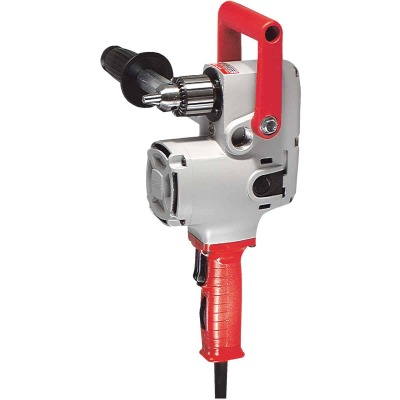 Milwaukee Hole Hawg 1/2 In. 7.5-Amp Keyed Electric Angle Drill with Case