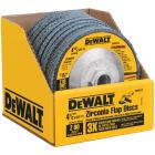 DeWalt 4-1/2 In. 80-Grit Type 29 High Performance Zirconia Angle Grinder Flap Disc Image 1