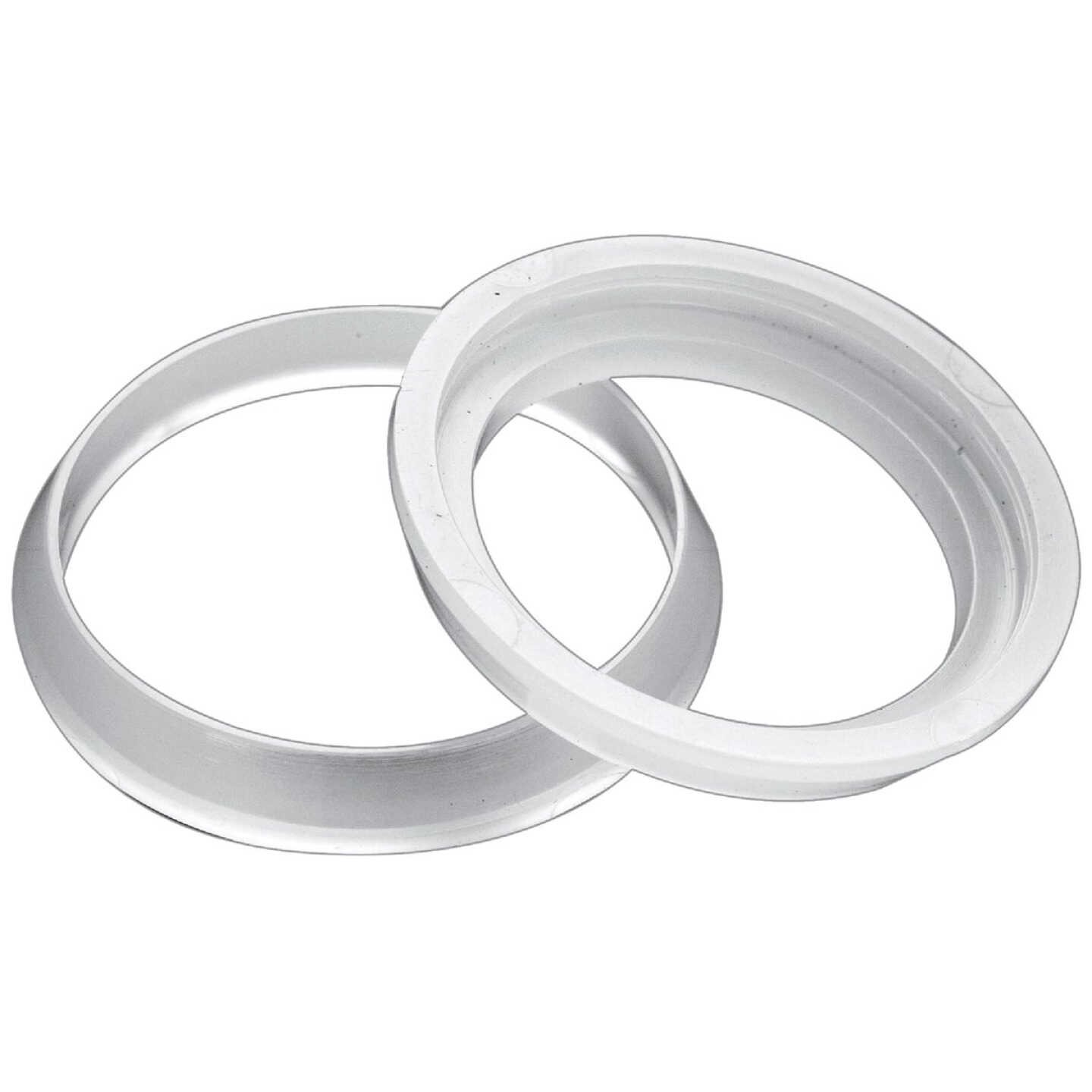 Do it 1-1/4 In. x 1-1/4 In. Clear Poly Slip Joint Washer (2 Pack) Image 1