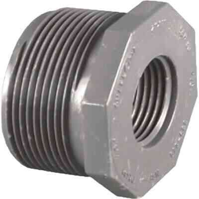 Charlotte Pipe 1-1/4 In. MPT x 3/4 In. FPT Schedule 80 Reducing PVC Bushing