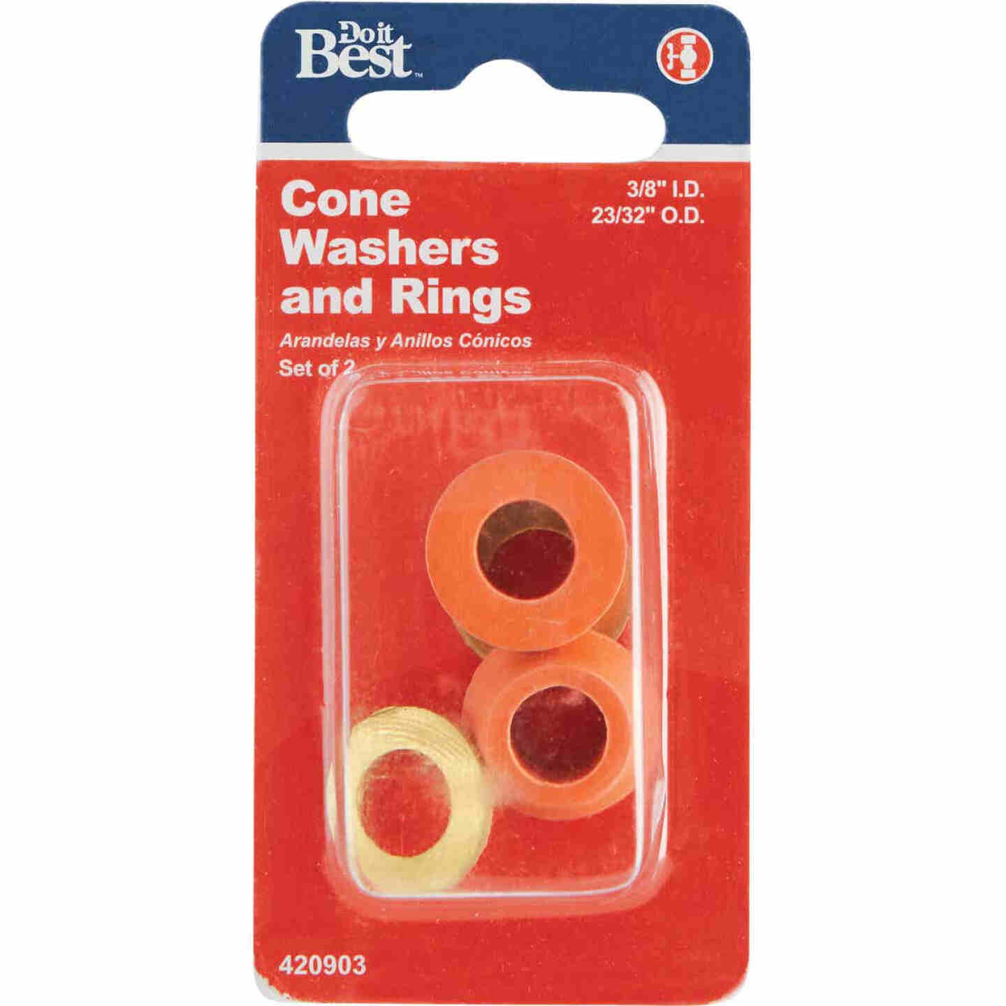 Do it 3/8 In. x 23/32 In. Black Cone Faucet Washer Image 2