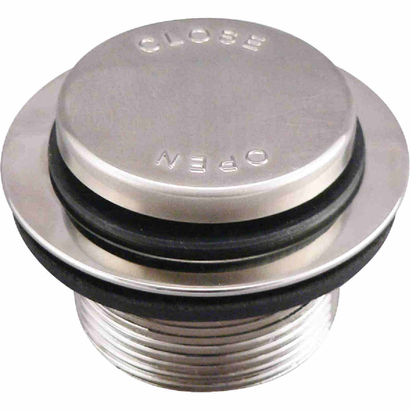 Do it Foot Lok Stop Bathtub Drain Stopper with Brushed Nickel Finish Image 1