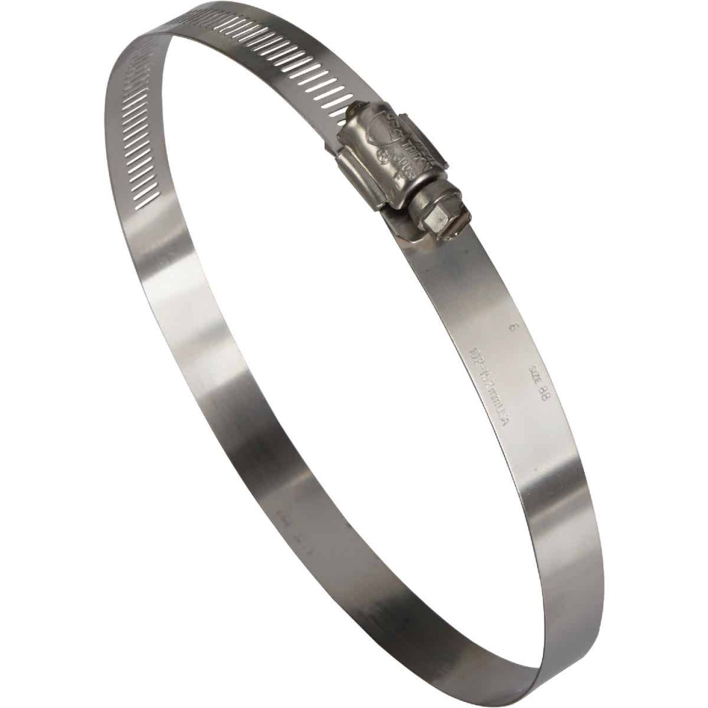 Ideal 4 In. - 6 In. All Stainless Steel Marine-Grade Hose Clamp Image 1