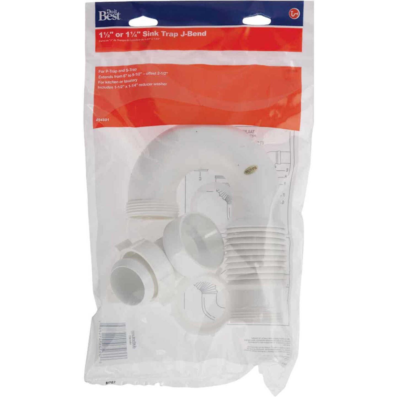 Do it 1-1/4 In. x 1-1/2 In. White Plastic J-Bend Image 2