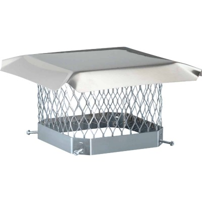 Shelter 9 In. x 13 In. Stainless Steel Single Flue Chimney Cap