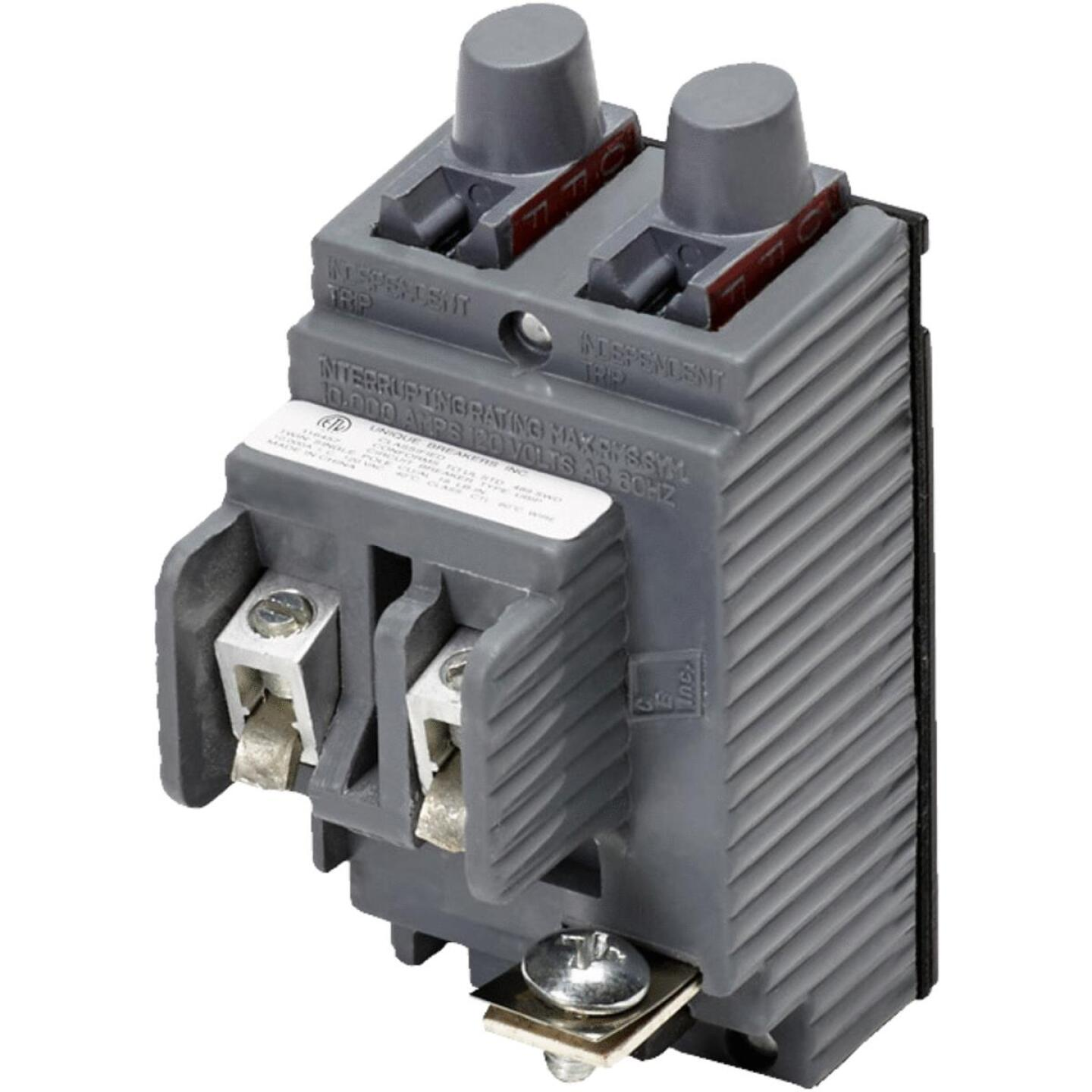 Connecticut Electric 20A/20A Twin Single-Pole Standard Trip Packaged Replacement Circuit Breaker For Pushmatic Image 1