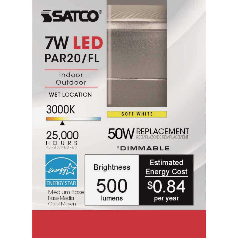 Satco 50W Equivalent Warm White PAR20 Medium Dimmable LED Floodlight Light Bulb Image 2