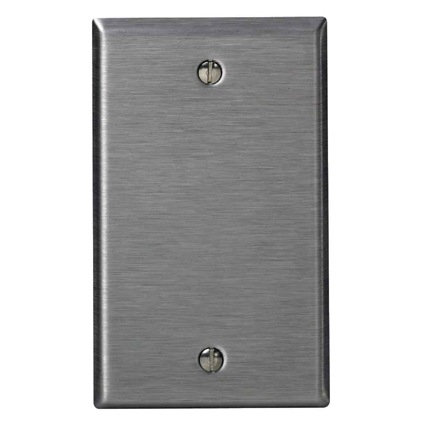 Leviton 1-Gang Standard Stainless Steel Blank Wall Plate  Image 1