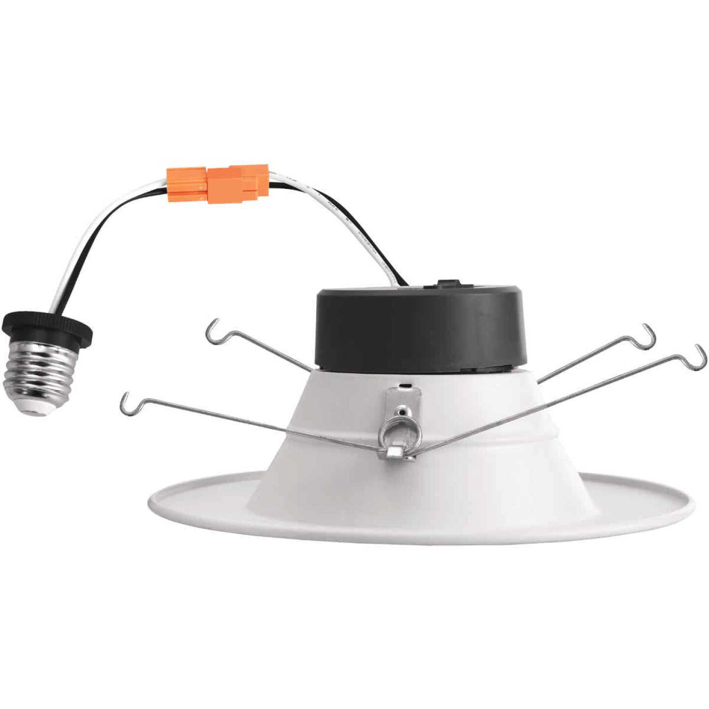 5 In./6 In. Retrofit IC Rated White LED CCT Tunable Down Light with Smooth Trim Image 5