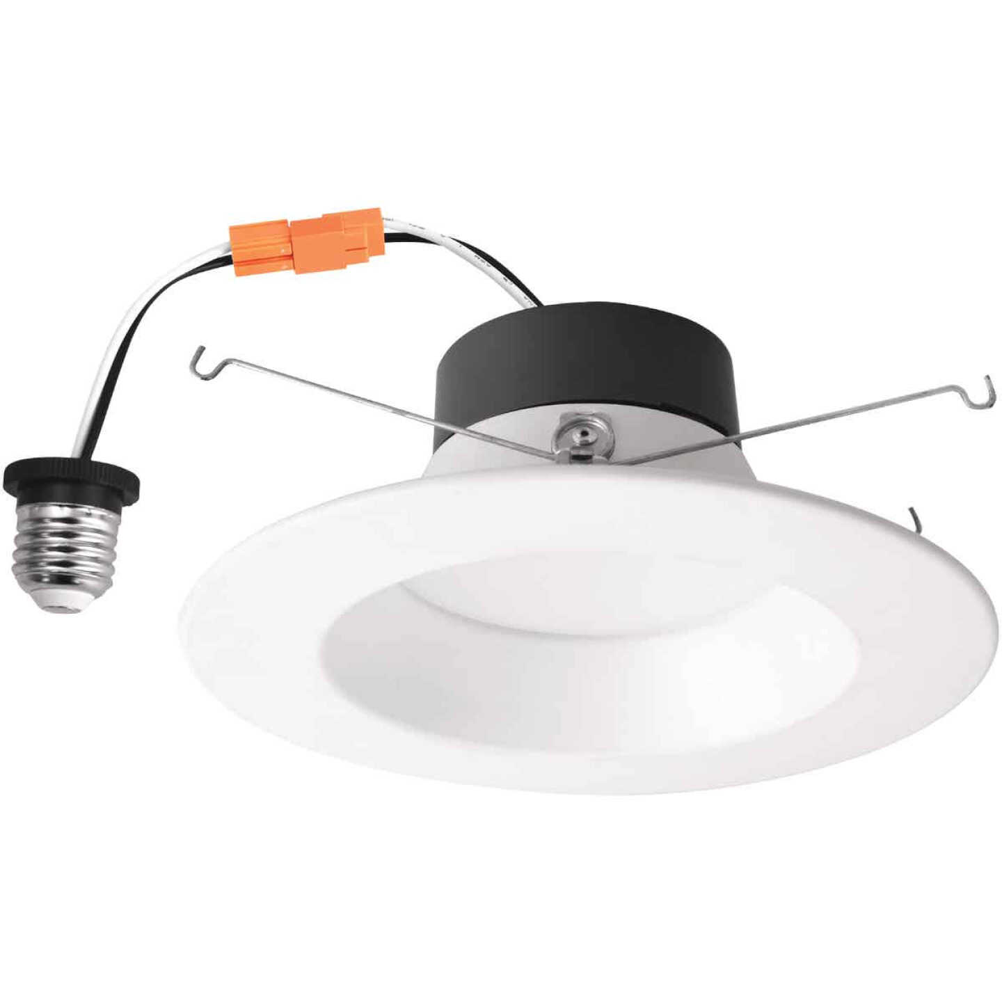 5 In./6 In. Retrofit IC Rated White LED CCT Tunable Down Light with Smooth Trim Image 1