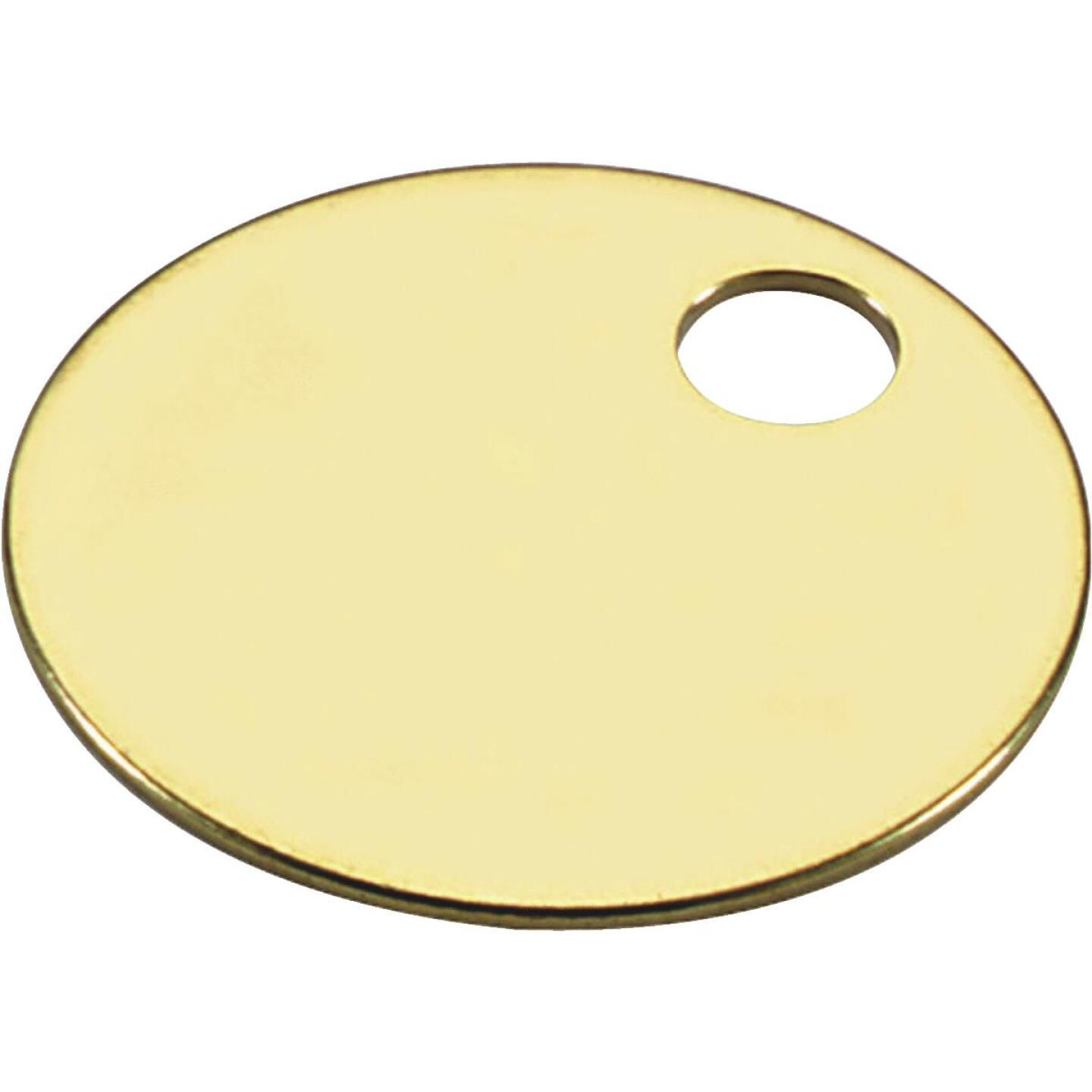 Lucky Line Engravable Tag 1-1/4 In. Brass Key Tag, (100-Pack) Image 1