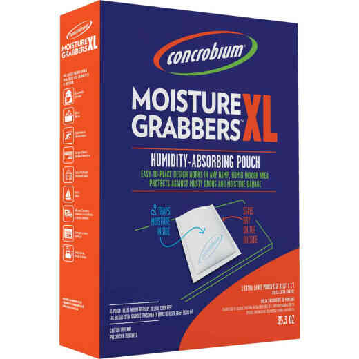 Concrobium Moisture Grabbers 35.3 Oz. XL Humidity Absorbing Pouch For Large Areas (1-Pack)