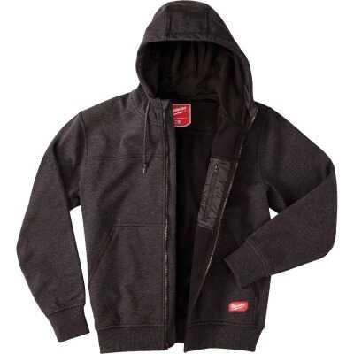 Milwaukee No Days Off L Black Men's Full Zip Sweatshirt