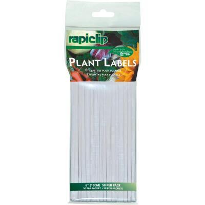 Rapiclip 6 In. Plastic Garden Marker Plant Label (50-Pack)