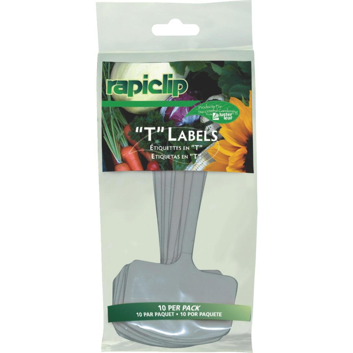 Rapiclip 6 In. Plastic Plant & Garden Marker T-Label (10-Pack) Image 1