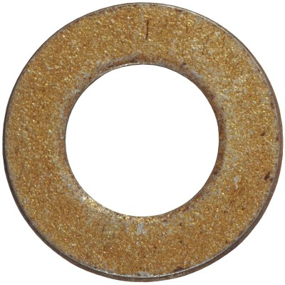 Hillman 1/2 In. SAE Hardened Steel Yellow Dichromate Flat Washer (50 Ct.)