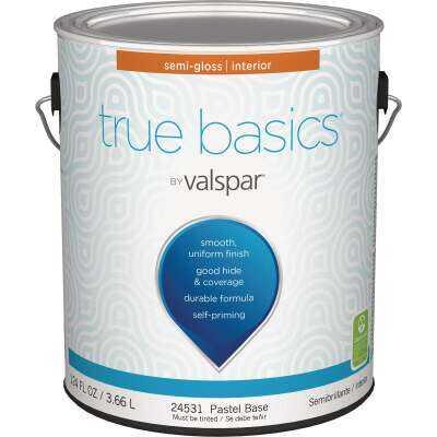 True Basics by Valspar Semi-Gloss Interior Wall Paint, 1 Gal., Pastel Base