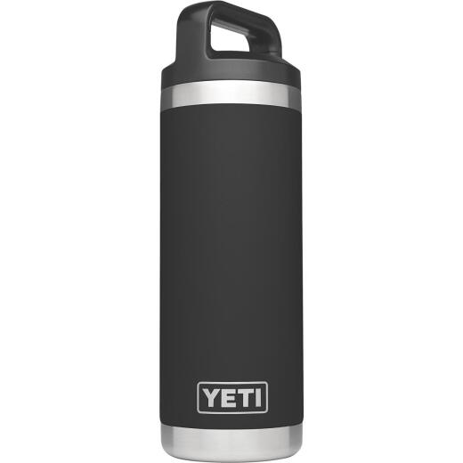 Yeti Rambler 18 Oz. Black Stainless Steel Insulated Vacuum Bottle