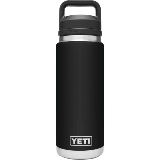Yeti Rambler 26 Oz. Black Stainless Steel Insulated Vacuum Bottle with Chug Cap
